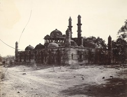 General view of the Jami Masjid, Champaner, from the south-west